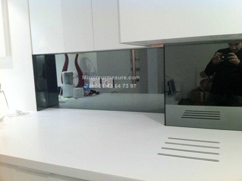 Cr dence en miroir sur mesure devis gratuit 01 43 64 73 97 for Miroir gris argent
