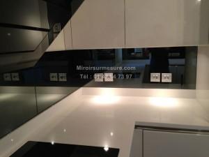 Miroir gris sur mesure d coupe en 24 h prix imm diat for Credence en miroir