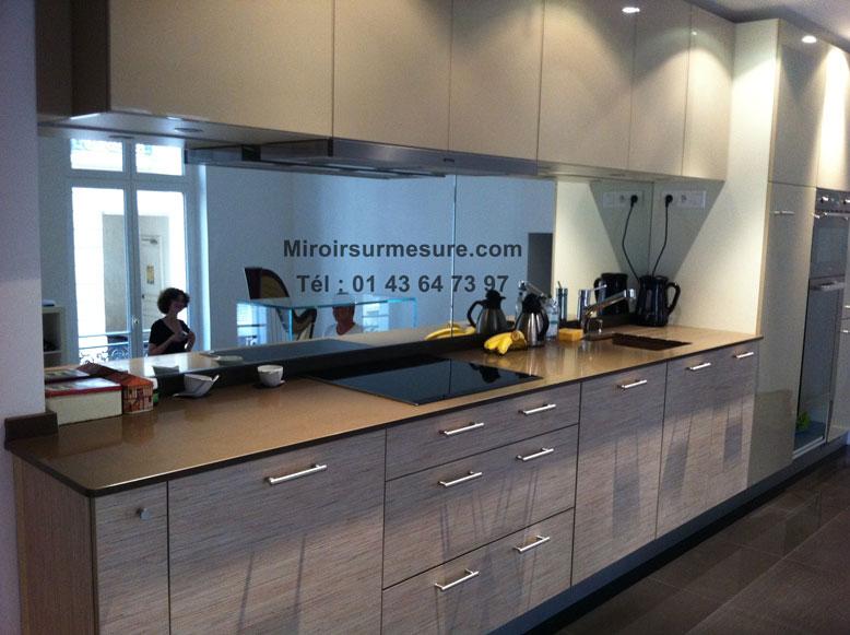 cr dence miroir sur mesure pour votre cuisine