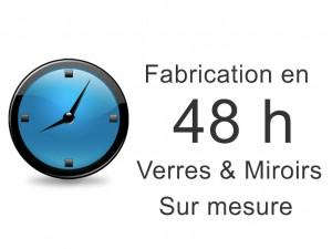 Fabrication de miroir et verre sur mesure en 48 h