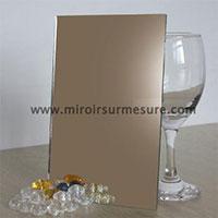 Miroir couleur bronze