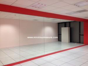 Mur miroir salle de sport et de fitness
