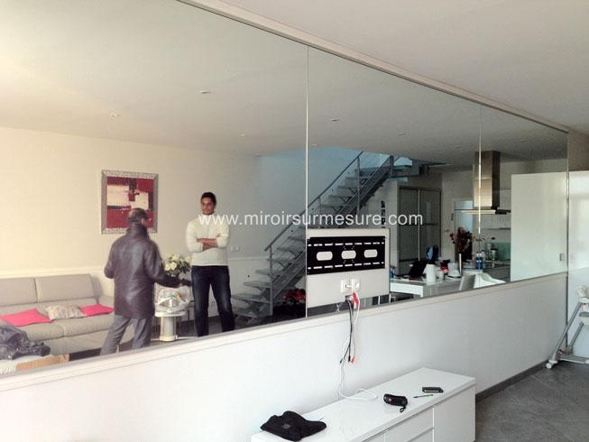 mur miroir sur mesure devis gratuit 01 43 64 73 97. Black Bedroom Furniture Sets. Home Design Ideas