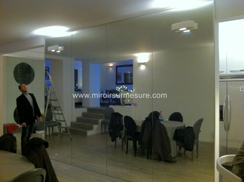 Mur miroir sur mesure devis gratuit 01 43 64 73 97 - Grand miroir mural sur mesure ...
