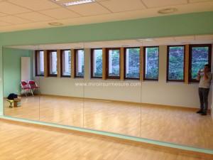 Mur miroir pour salle de fitness anti-éclat