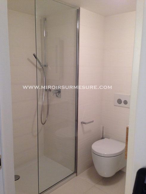 Pare-douche en verre trempé fixe pour salle de bain à l'italienne