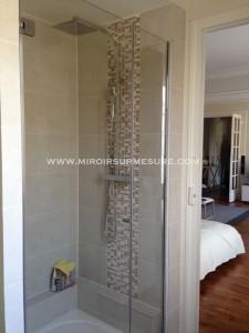 porte de douche à l'italienne en verre trempé anti-calcaire Showerguard