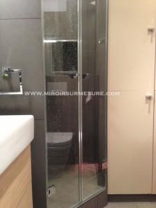 Double porte en verre trempé anti-calcaire de douche sur mesure