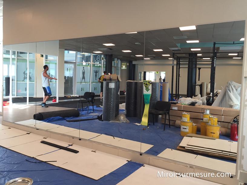 Miroir pour salle de sport