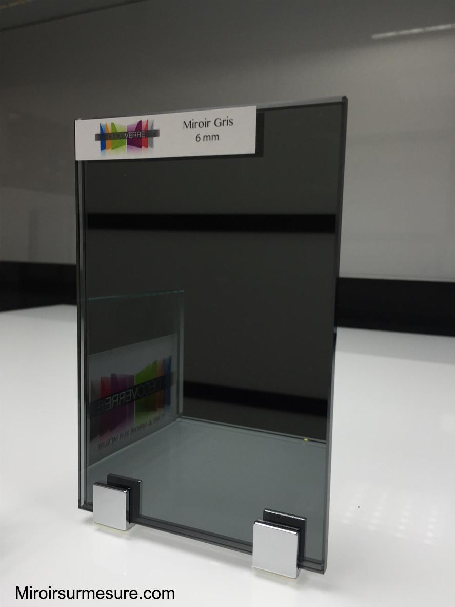 miroir gris sur mesure d coupe en 24 h prix imm diat. Black Bedroom Furniture Sets. Home Design Ideas