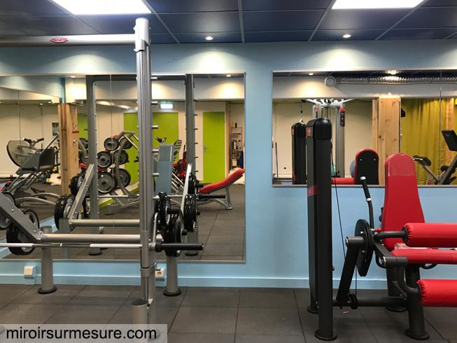 Miroir salle de fitness