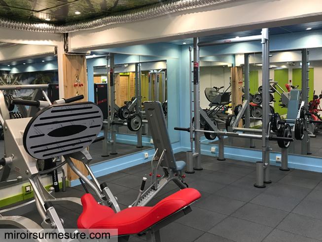 Miroir salle de sport sur mesure